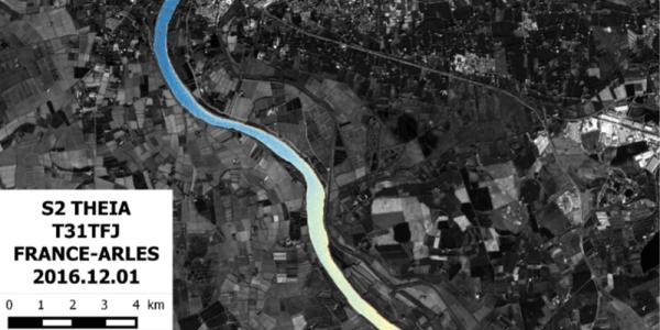 Level of suspended solids in the Rhône river, december 2016