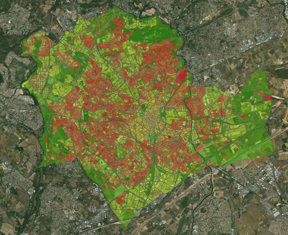 Mapping Tiger Mosquitoes risk in Montpellier (France).