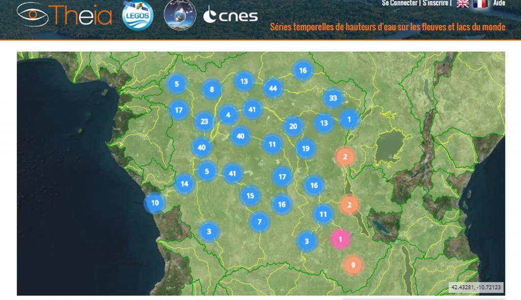 Congo Basin Coverage by Hydroweb