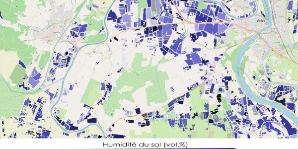 Soil Moisture at plot-scale Arles area (France)