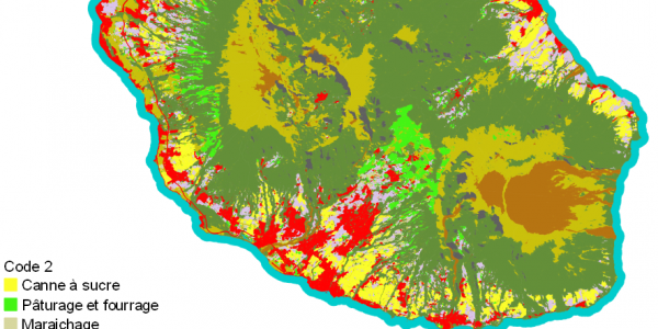Land Cover Map for Reunion Island, 2018.