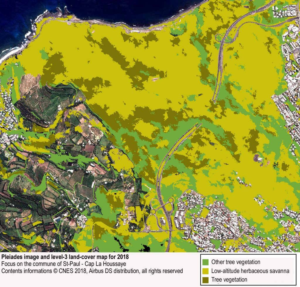 Savannas of the Reunion island's Leeward Coast